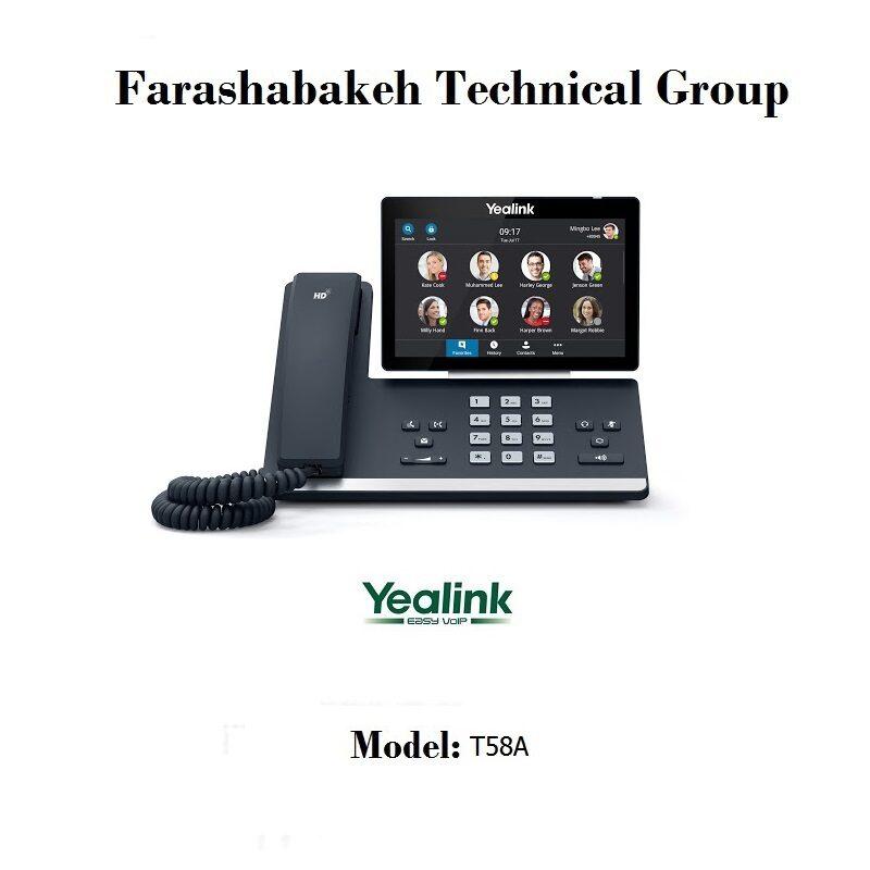 تلفن تحت شبکه Yealink مدل T58A