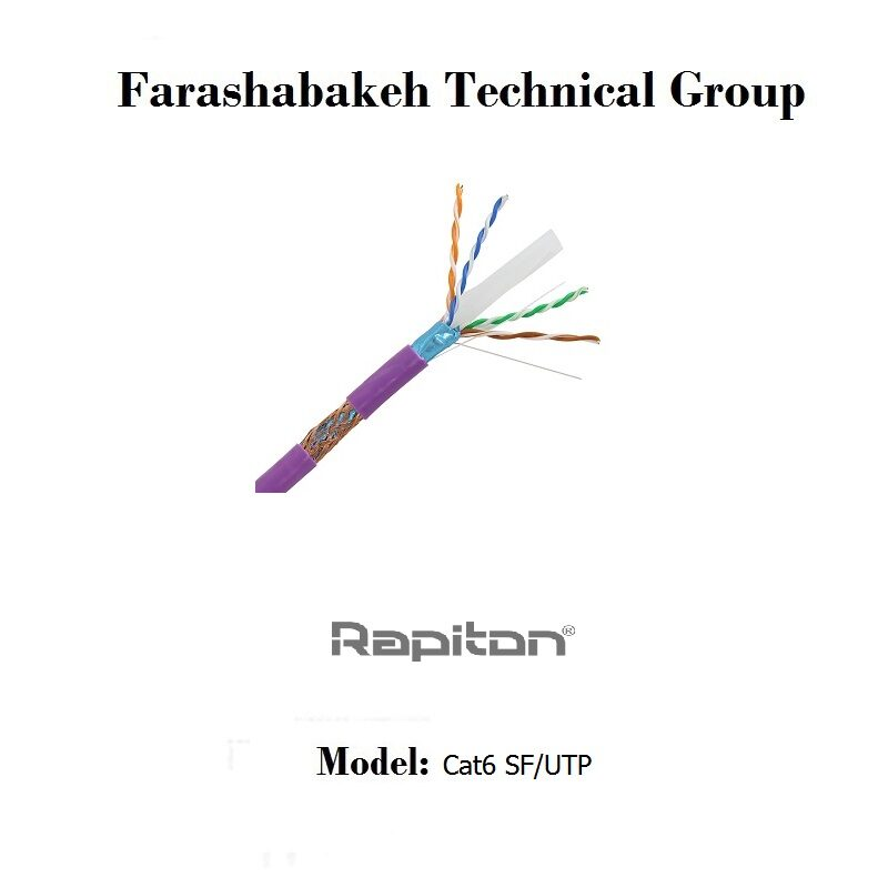 کابل شبکه Rapiton مدل Cat6 SF/UTP